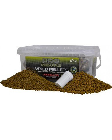 starbaits probiotic pellet mix pineapple 2 kg