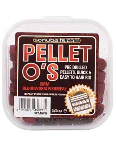 sonubaits Pellet forati O'S Barbel & Carp Bloodworm 8mm