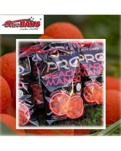 STARBAITS PROBIOTIC BOILIES PEACH & MANGO